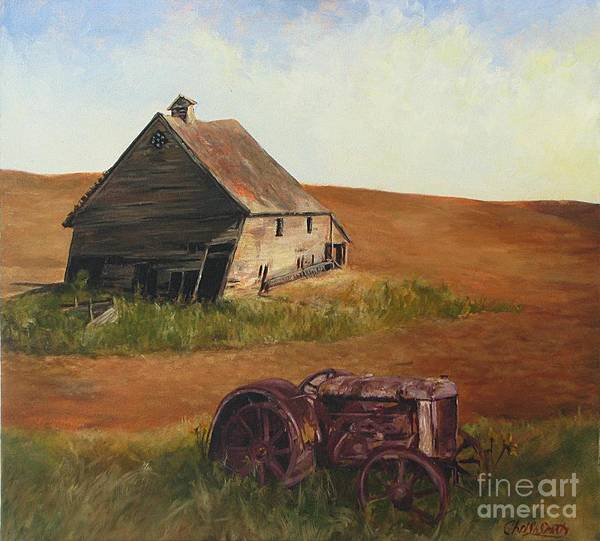 Oil Paintings Art Print featuring the painting The Forgotten Farm by Chris Neil Smith