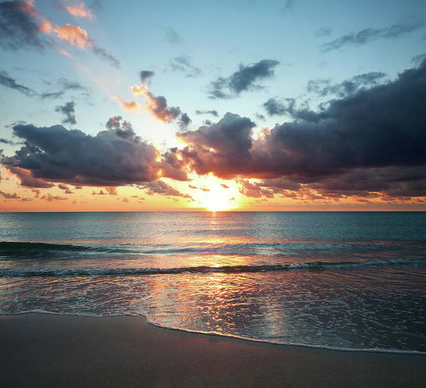 Scenics Art Print featuring the photograph Sunrise In Miami by Tovfla
