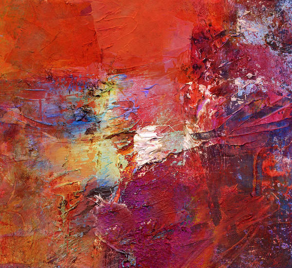 Color Art Print featuring the painting Abstract Mm No. 107 by Wolfgang Rieger