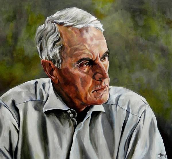 Portrait Art Print featuring the painting An Interesting Man - Viktor Hesse by Jolante Hesse