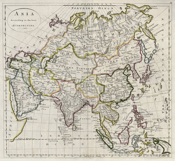 Map Of Asia To Print.Asia Carey Map 1814 Art Print By Compass Rose Maps
