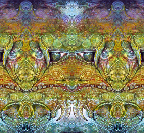 \bogomil Variations\ \otto Rapp\ \ Michael F Wolik\ Art Print featuring the digital art Bogomil Variation 12 by Otto Rapp