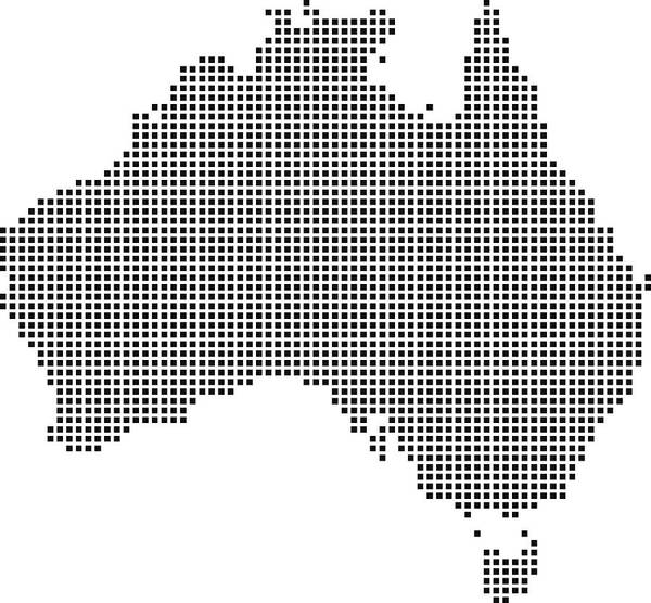 Australia Map Vector.Highly Detailed Australia Map Dots Dotted Australia Map Vector Outline Pixelated Australia Map In Black And White Illustration Background Art Print