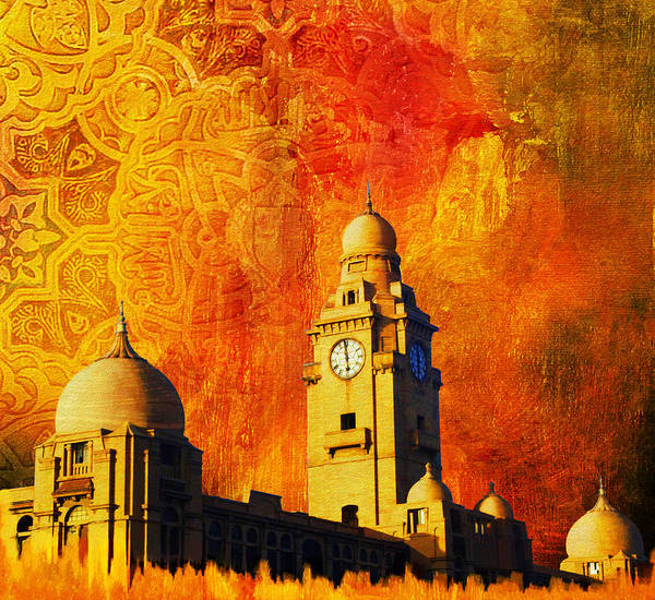 Pakistan Art Print featuring the painting Municipal Corporation Karachi by Catf