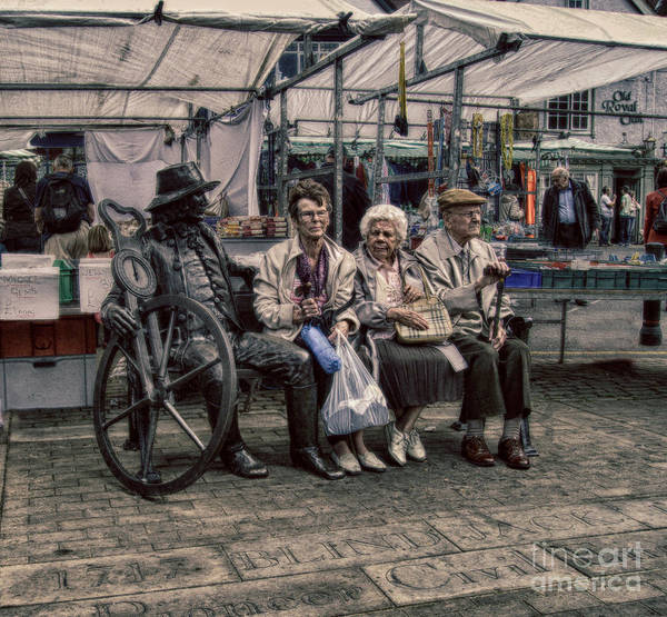 Advice For Seniors Print featuring the photograph Which One Is The Statue by Doc Braham