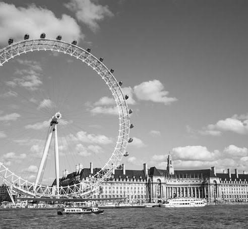 Dawn Oconnor Dawnoconnorphotos@gmail.com Art Print featuring the photograph London Eye And County Hall by Dawn OConnor