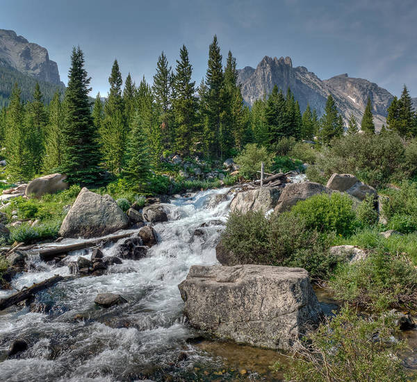 Horizontal Art Print featuring the photograph Rock Creek by Merilee Phillips