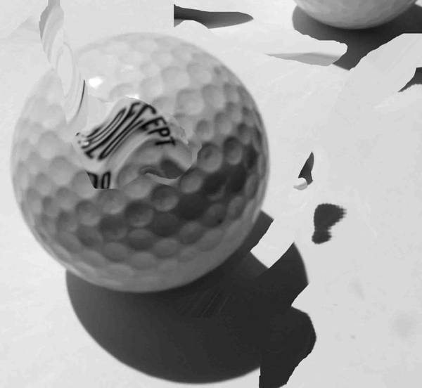 Golf Art Print featuring the photograph A Golf Ball On Holiday by Evguenia Men