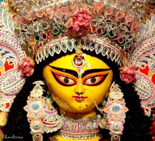 Durga Art Print featuring the photograph Goddess Durga by Chandrima Dhar