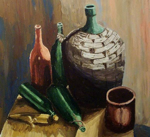Still Life Art Print featuring the painting A Still Life IIi by Mats Eriksson