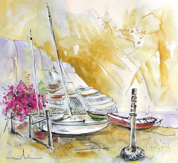 Agua Amarga Art Print featuring the painting Agua Amarga 13 by Miki De Goodaboom
