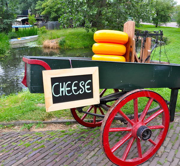 Cheese Art Print featuring the photograph Cheese On A Wagon by Caroline Reyes-Loughrey