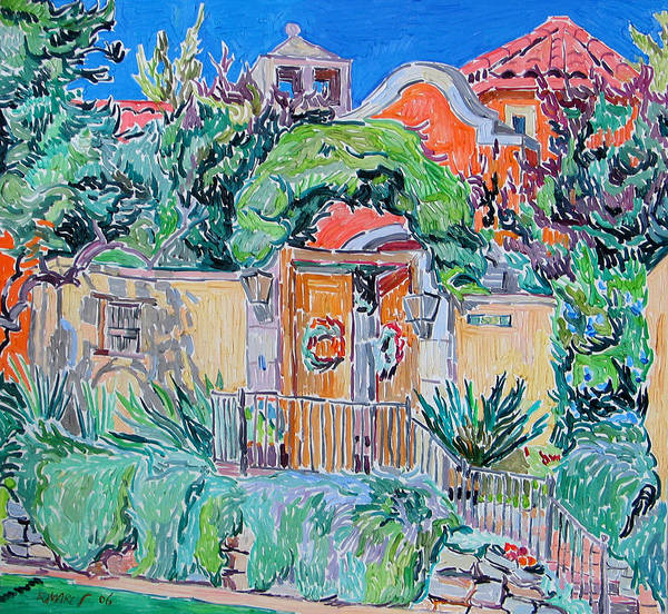 Hacienda Art Print featuring the painting Hacienda by Vitali Komarov