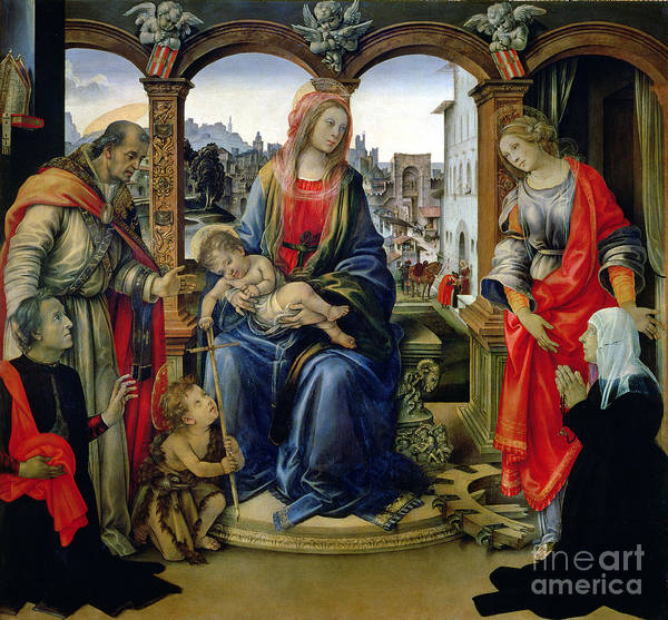 Nerli Art Print featuring the painting Madonna And Child by Filippino Lippi