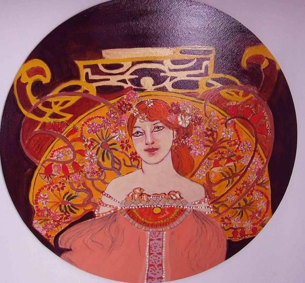 A rt Nouveau Art Print featuring the painting Mazurka by Rusty Woodward Gladdish