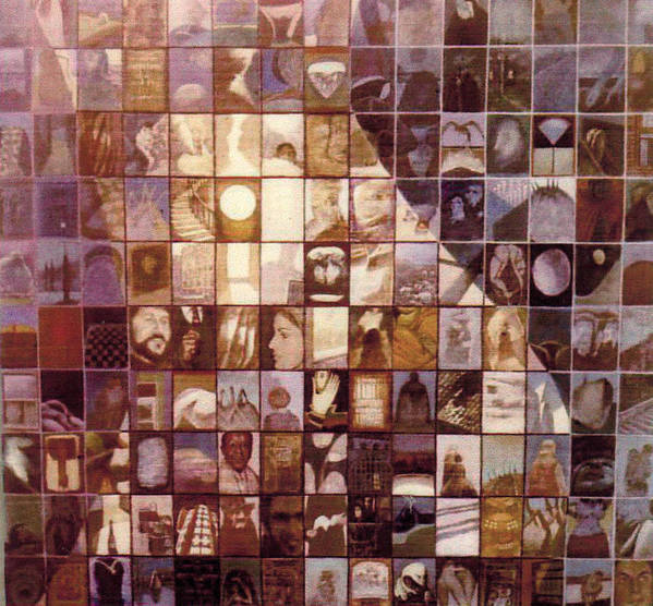 Mosaic Art Print featuring the painting One Hundred And Fifty by James LeGros