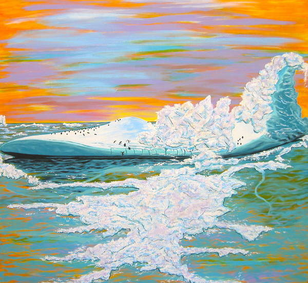 Iceberg Art Print featuring the painting The Last Iceberg by V Boge