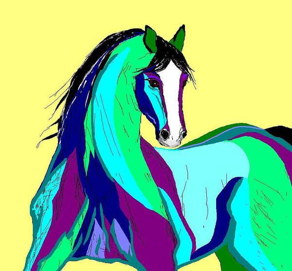 Horses Art Print featuring the digital art Playful by Carole Boyd