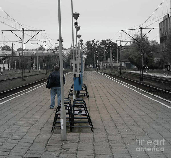 Poland Art Print featuring the photograph Polish Train Station by Angela Wright