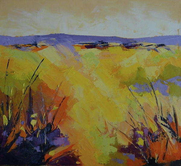 Landscape Art Print featuring the painting Spring Karoo by Yvonne Ankerman