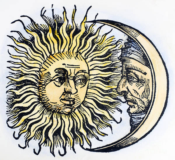 1493 Art Print featuring the photograph Sun And Moon, 1493 by Granger