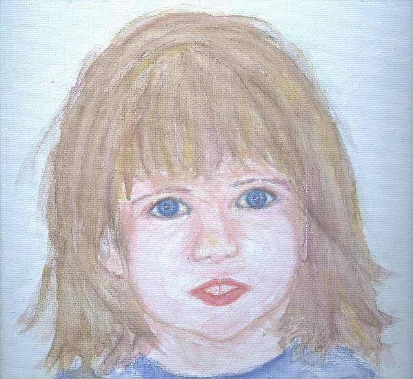 Portrait Art Print featuring the painting Sweet Alex by Cathy Minerva