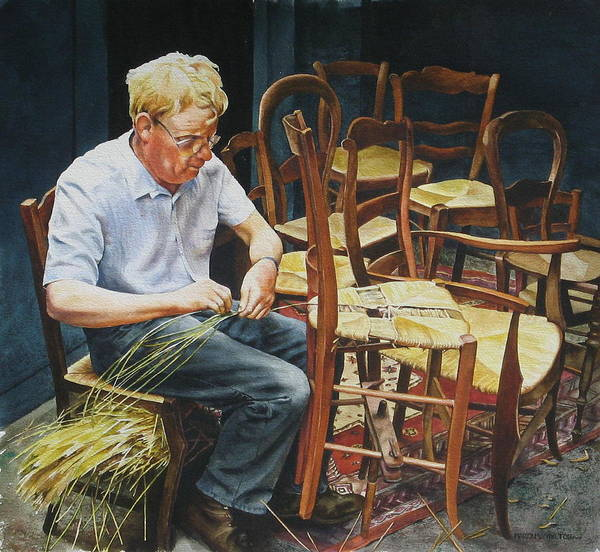People Art Print featuring the painting The Craftsman by Marion Hylton