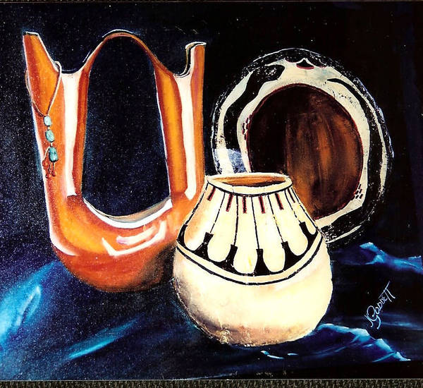 Pottery Art Print featuring the painting The Wedding Gift 3 by Joan Gossett