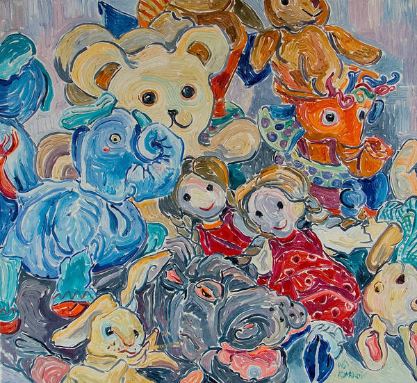 Toys Art Print featuring the painting Toys by Vitali Komarov