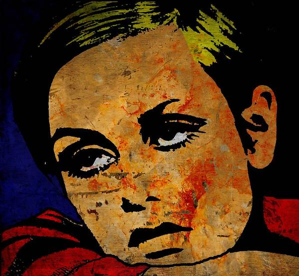 Lesley Lawson Print featuring the painting Twiggy by Otis Porritt