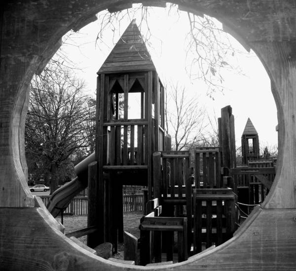 Playground Art Print featuring the photograph Wooden Castle by Leigh Odom