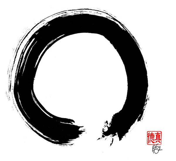 Enso Print featuring the painting Zen Circle Five by Peter Cutler