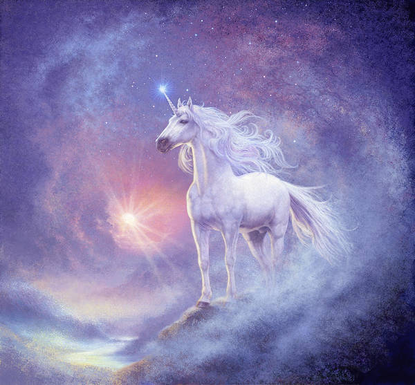 Steve Read Art Print featuring the photograph Astral Unicorn by MGL Meiklejohn Graphics Licensing