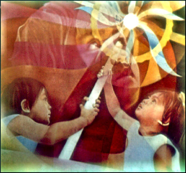 Matthew 11:28 Print featuring the painting Come Unto Me 1966 by Glenn Bautista