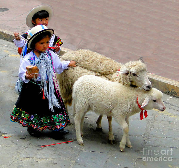 Kid Art Print featuring the photograph Cuenca Kids 233 by Al Bourassa