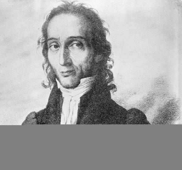 Nicholo Paganini Art Print featuring the photograph Nicholo Paganini, Italian Violinist by Science Photo Library