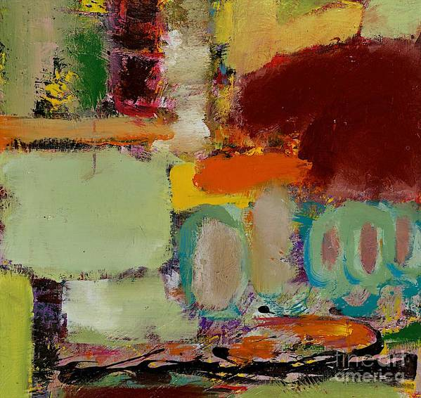 Landscape Art Print featuring the painting Over There by Allan P Friedlander