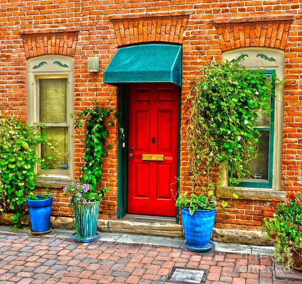 Door Print featuring the photograph Red Door by Baywest Imaging