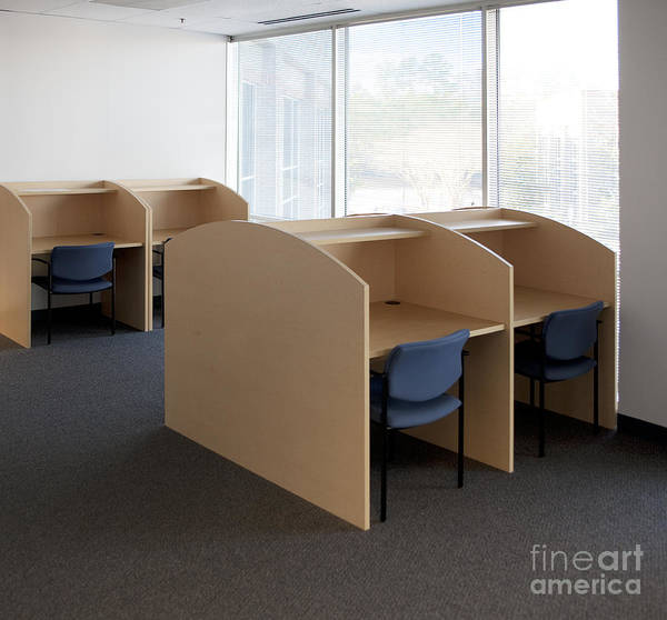 Architecture Art Print featuring the photograph Empty Carrels by Will & Deni McIntyre