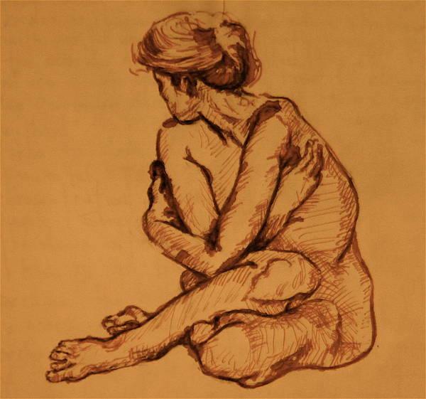 Sketcht Art Print featuring the painting Studio Sketch by Dan Earle