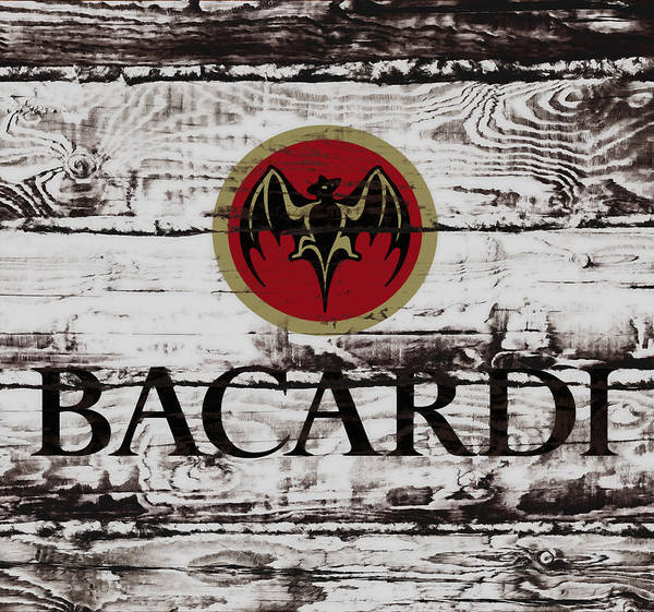 Bacardi Art Print featuring the photograph Bacardi Wood Art by Brian Reaves