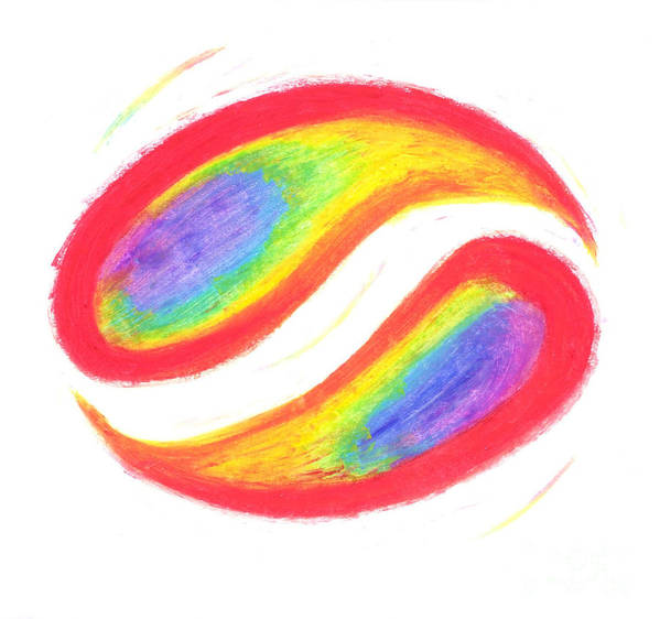 Rainbow Art Print featuring the pastel Balance by Chandelle Hazen