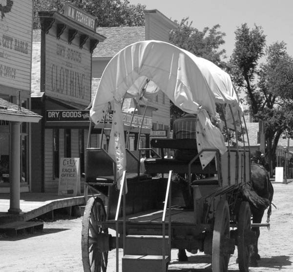 Cowtown Art Print featuring the photograph Down Main Street by Julie Clements