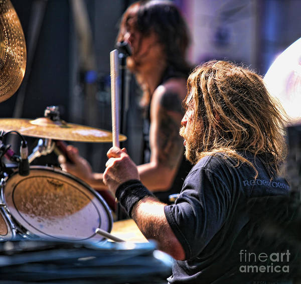 Drummer Art Print featuring the photograph Drummer II by Chuck Kuhn