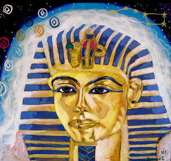 Egyptian Mysteries Art Print featuring the painting Egyptian Mysteries by Morten Bonnet