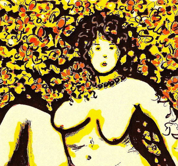 Woman Art Print featuring the painting Erotic Desire by Natalie Holland
