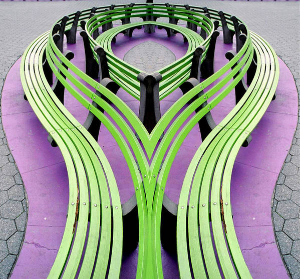 Mobius Art Print featuring the photograph Mobius Bench by Jim DeLillo