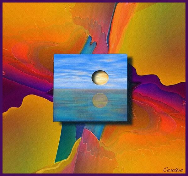 Moonlit Art Print featuring the digital art Moonlit by Carola Ann-Margret Forsberg