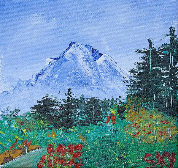 Nature Art Print featuring the painting My Mountain Wonder by Jera Sky
