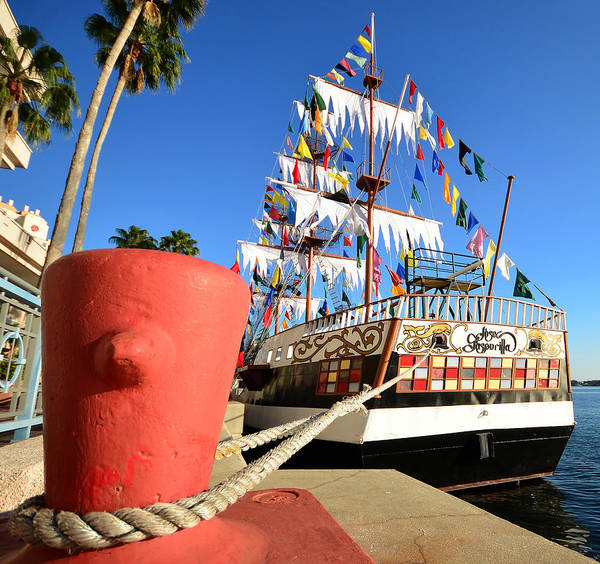 Pirate Ship Art Print featuring the photograph Pirates In Harbor by David Lee Thompson
